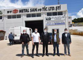 Başkan Öz'den Hurmaköy Mücavir Mahallesi Sanayi Merkezi Esnafımıza Ziyaret