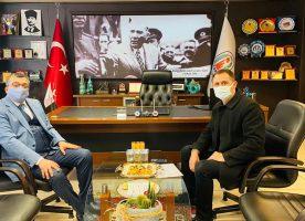 HALİL TURAN'DAN BAŞKANIMIZ BÜLENT ÖZ'E ZİYARET