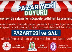 PAZAR YERİ DUYURU