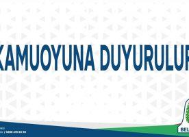 KAMUOYUNA DUYURULUR (08/06/2020)